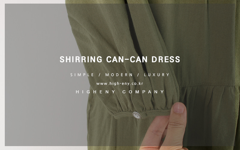 Shirring can-can dress