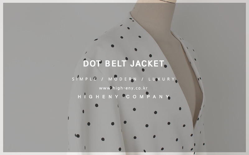 Dot belt jacket