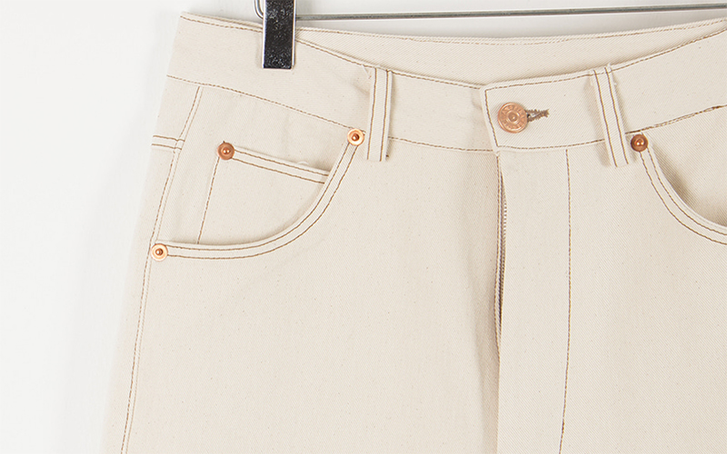 Curve cream pants