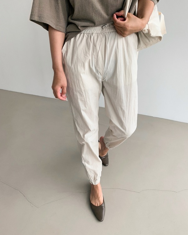 Zipper slit jogger pants