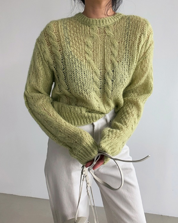 Mohair twist knit