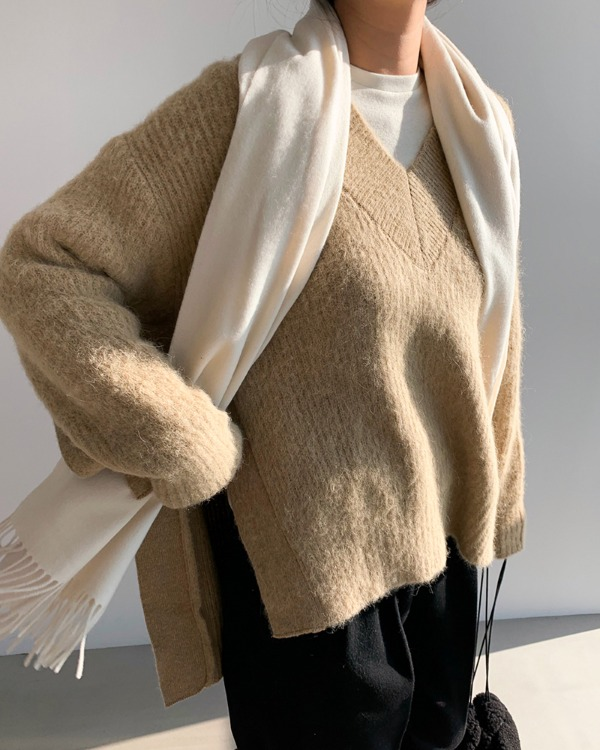 Alpaca over V knit