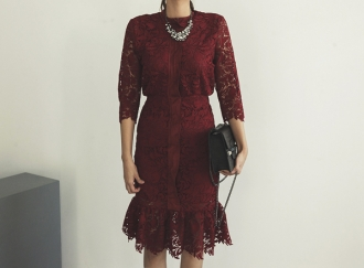 Entirely lace dress