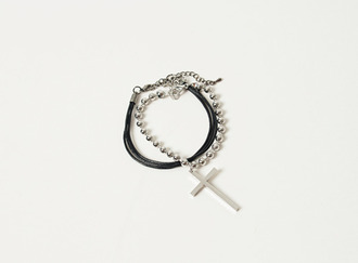 Ball layer cross bracelet