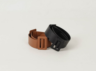 Two buckle belt