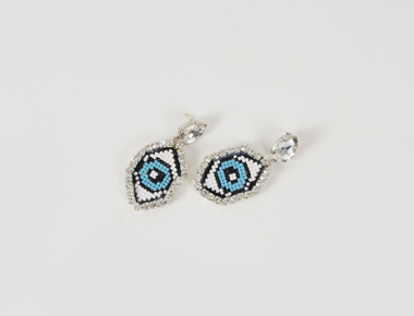 Bling eye cubic earring