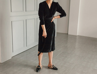 Bruny velvet dress
