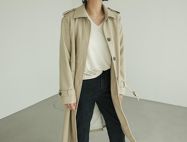Something leather trench coat