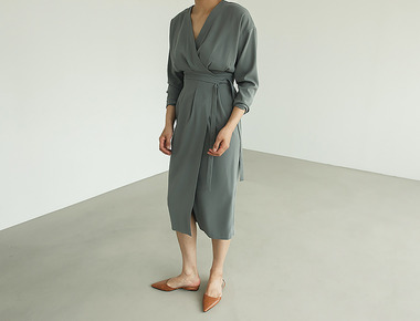 Sien wrap dress
