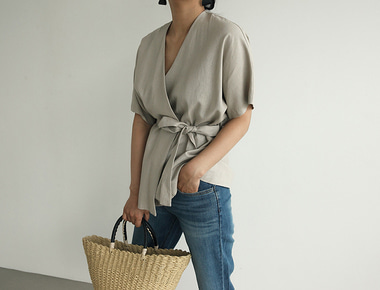 Low linen starp jacket