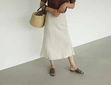 Herringbone natural skirt