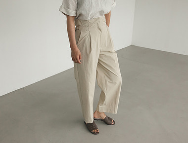 Side bijo wide pants
