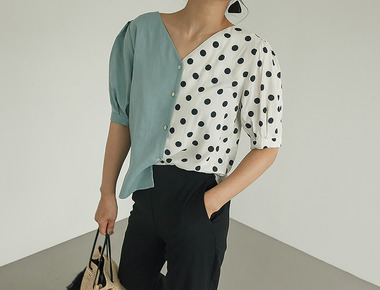 Indy dot blouse