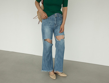L422 Vintage destroyed denim pants