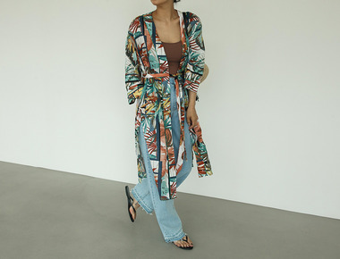 Summer color robe cardigan
