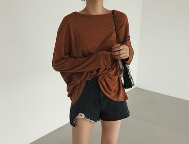 Linen pocket natural tee