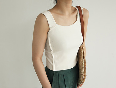 Square bustier knit