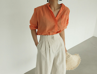 Vacation color blouse