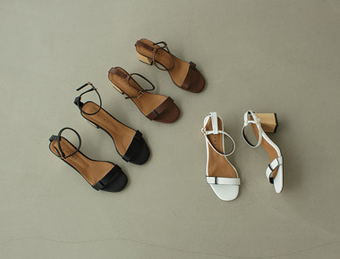 CM6057 Wood point sandal heel