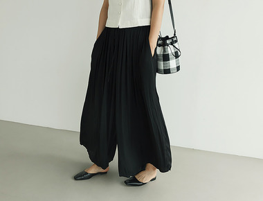 Twist wide pants