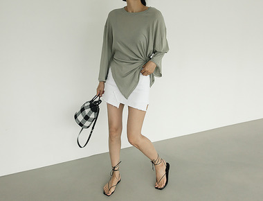 Holly slit tee