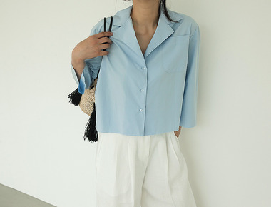 Crop sleeve vintage shirts