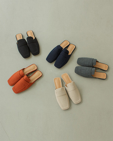 W671 Knit loafer mule