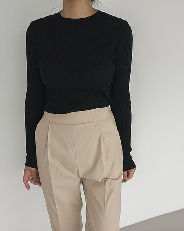 Layered slim knit