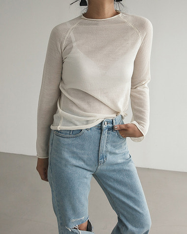 See through round knit