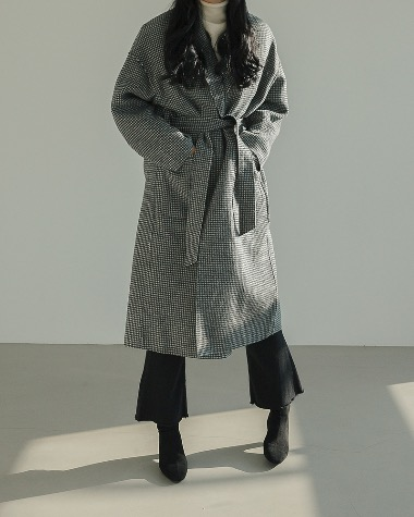 Carly check coat