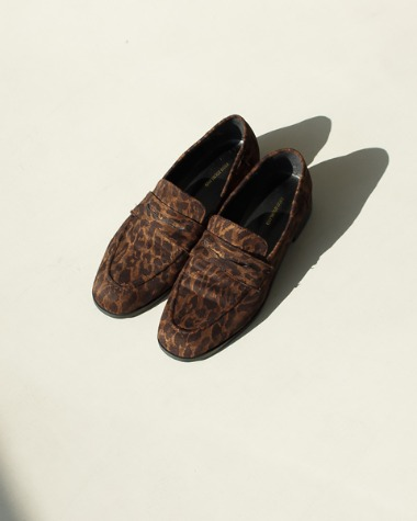 MS502-2 leopard loafer