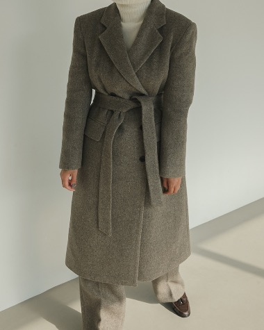 Dean wool herringbone coat