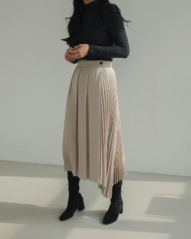 Cel unbalance pleats skirt