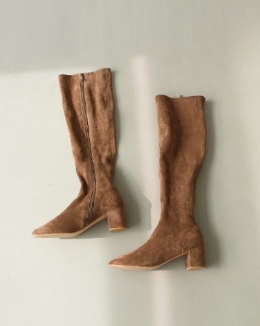 MS703 Suede round long boots