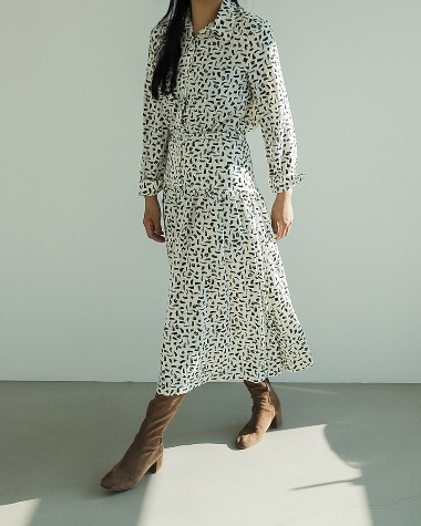 Plain pattern dress