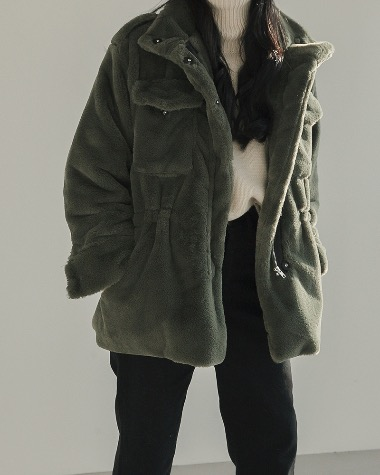 Mink field jacket