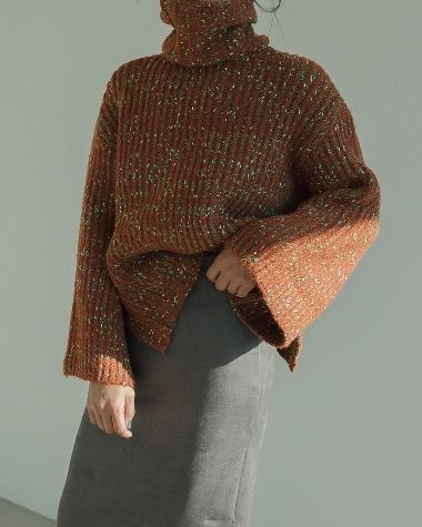 Mix Horn sleeve knit
