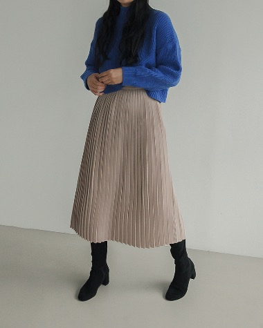 Mono pleats skirt