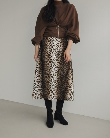 Smoking leopard skirt