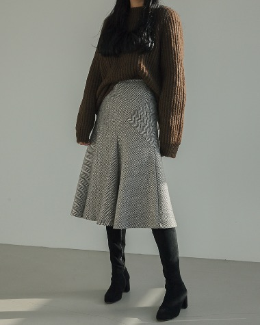 Floring herringbone skirt