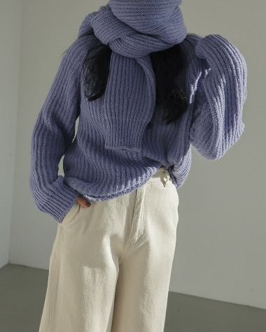 Over muffler set knit