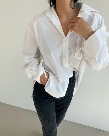 Sleeve string shirts