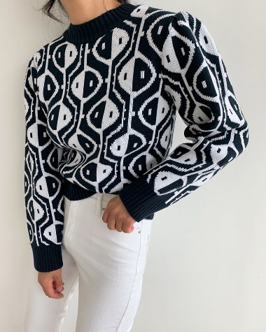 Jacquard pattern knit