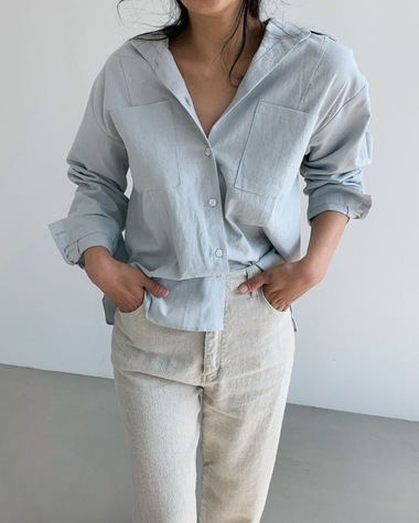 Big pocket natural shirts