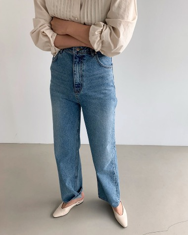 High waist vintage denim pants