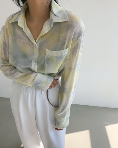 Flock color blouse