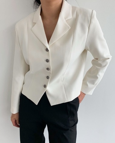 Cream button jacket