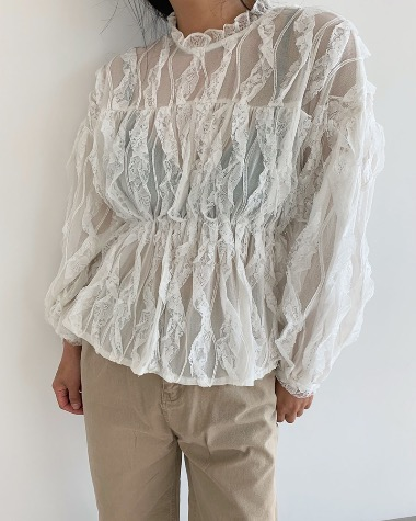 Recline lace blouse