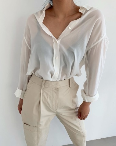 Cream natural blouse