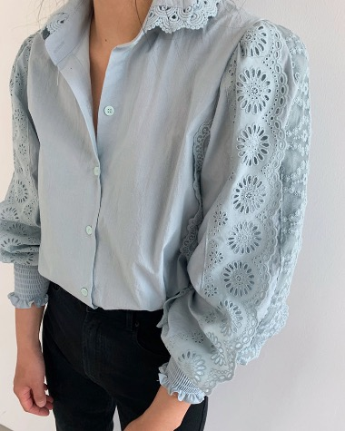 Double lace blouse